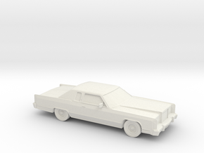 1/87 1978 Lincoln Continental Coupe in White Natural Versatile Plastic