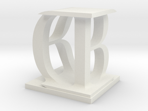 Two way letter / initial B&D in White Natural Versatile Plastic