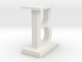 Two way letter / initial B&I in White Natural Versatile Plastic