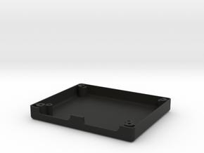 Uzebox Bottom Shell in Black Natural Versatile Plastic
