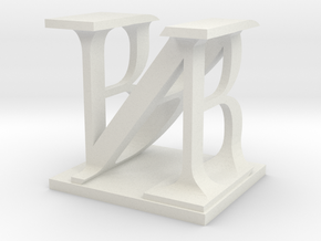 Two way letter / initial B&N in White Natural Versatile Plastic