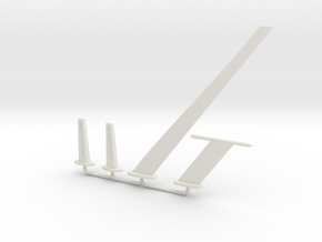 Antenna Set in White Natural Versatile Plastic