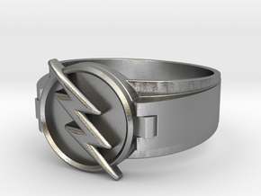 Reverse Flash Ring size 12 3/4 ,22.1mm in Natural Silver