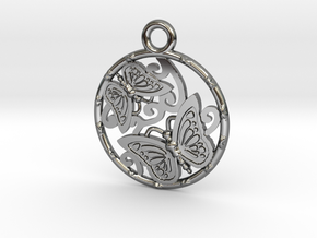 Duo butterfly in Premium Silver