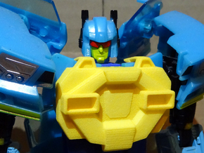 Gen. Nightbeat Upgrade Kit #4 - G1 Comic Chest in Yellow Strong & Flexible Polished
