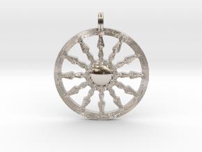 SUN Designer Symbolic Jewelry Pendant in Platinum