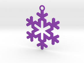 Ornament, Snowflake 004 in Purple Processed Versatile Plastic