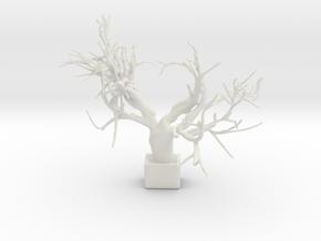 Heart Tree in White Natural Versatile Plastic