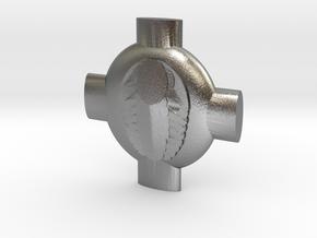 Heterodyne Pin in Natural Silver