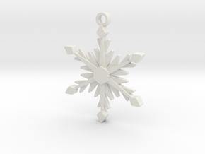Icy Snowflake in White Natural Versatile Plastic