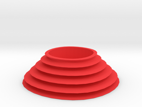 Waterfall tealight in Red Processed Versatile Plastic