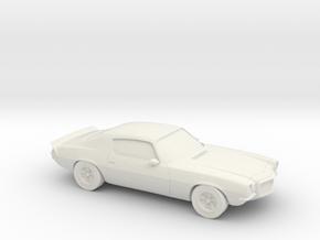 1/87 1972 Chevrolet Camaro Z28 in White Strong & Flexible