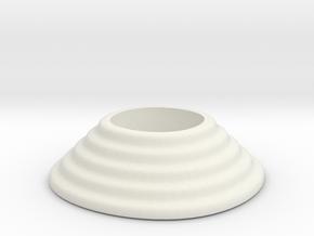 Waterfall tealight 2 in White Natural Versatile Plastic