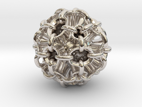 Hollow piped sphere with loops #3 Smaller in Platinum
