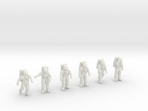 Apollo 11 Astronauts 1:48 in White Natural Versatile Plastic