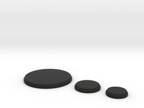 Bases 50mm 25mm 20mm in Black Natural Versatile Plastic