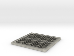 Brick's floor 2x2 in Transparent Acrylic