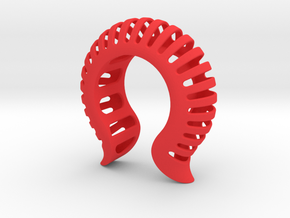 Shell Skeleton Cuff Med 65mm VI-08-0003-2006 in Red Strong & Flexible Polished