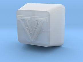 V Cherry MX Keycap in Smooth Fine Detail Plastic