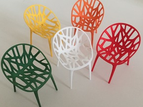 1:12 Chair Design Original in White Strong & Flexible Polished