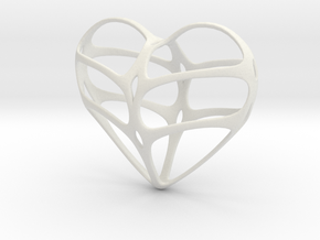 heart jewelry in White Strong & Flexible