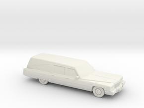 1975 Cadillac  Hearse in White Natural Versatile Plastic