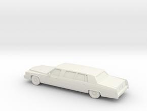 1/87 1979 Cadillac Fleetwood Custom Limousine in White Natural Versatile Plastic