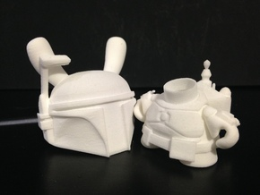 Boba Bunny in White Natural Versatile Plastic