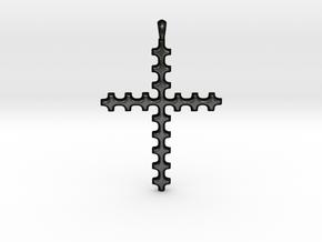 CROSS Cubism Jewelry Pendant in Silver | Gold in Matte Black Steel