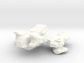 Spacecraft07 in White Processed Versatile Plastic