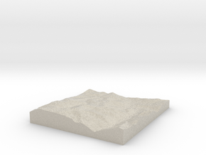 Model of Mary Jane Ski Area in Natural Sandstone