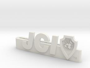 Jci Tie Clip in White Strong & Flexible