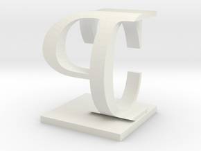 Two way letter / initial C&P in White Natural Versatile Plastic