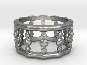 Designer COLUMN RING in Silver |  Gold |  Steel in Natural Silver