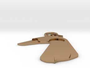 Large greyhound dog pendant in Polished Brass