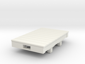 Gn15 Small 5ft flat wagon in White Strong & Flexible