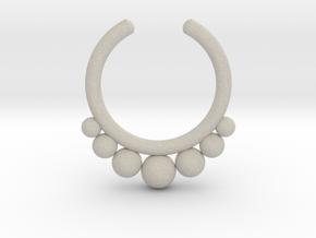 Septum Ring 1.5mm in Natural Sandstone