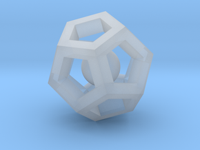 Dodecahedron Mini in Smooth Fine Detail Plastic