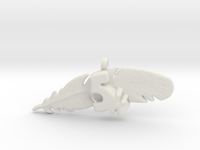 5K FEATHER NECKLACE in White Natural Versatile Plastic