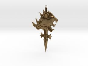 Griever Emblem (keychain size) V1 in Natural Bronze