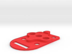 ZMR250 Quadcopter Anti-vibration Mount in Red Processed Versatile Plastic