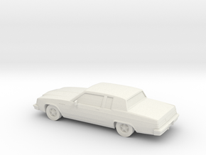 1/87 1980 Buick Electra Coupe in White Natural Versatile Plastic