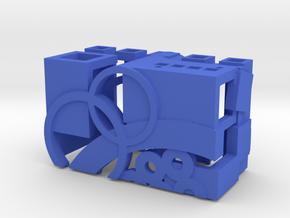 Crank Case Top _ Part1of3 _ by Dallas Good in Blue Processed Versatile Plastic