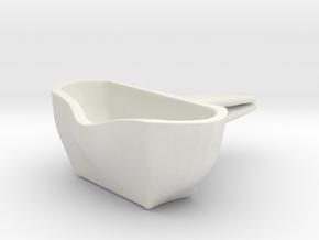 Voituré 'M' - Car Interior Flower Pot in White Natural Versatile Plastic