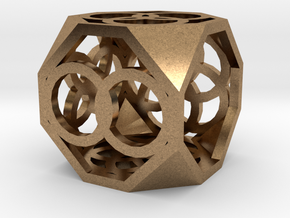 Dice94 in Natural Brass