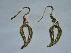 Spine Earrings in Natural Brass
