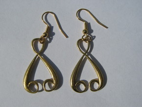 Four-Loop Earrings in Natural Brass
