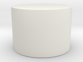 28mm miniature display base in White Natural Versatile Plastic
