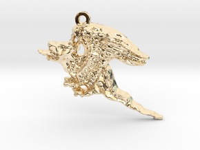 A Dragon in 14K Yellow Gold