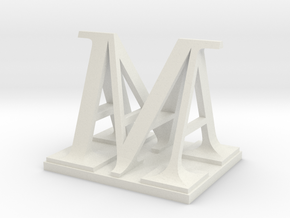 Two way letter / initial A&M in White Natural Versatile Plastic